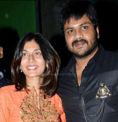 Manchu Manoj and his wife: