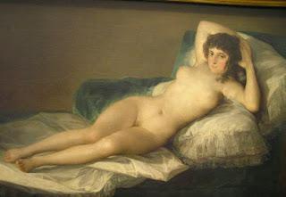 La maja desnuda de Goya. Museo del Prado, Madrid.