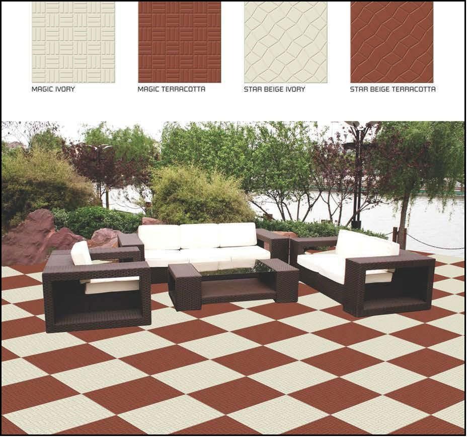 Porcelain floor tile 12x12