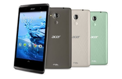 Acer Liquid Z500 Specifications - LAUNCH Announced 2014, September DISPLAY Type IPS LCD capacitive touchscreen, 16M colors Size 5.0 inches (~65.1% screen-to-body ratio) Resolution 720 x 1280 pixels (~294 ppi pixel density) Multitouch Yes Protection Corning Gorilla Glass 3 BODY Dimensions 145 x 73 x 8.8 mm (5.71 x 2.87 x 0.35 in) Weight 150 g (5.29 oz) SIM Single SIM (Micro-SIM) or Dual SIM (Micro-SIM, dual stand-by) PLATFORM OS Android OS, v4.4.2 (KitKat) CPU Quad-core 1.3 GHz Cortex-A7 Chipset Mediatek MT6582 GPU Mali-400MP2 MEMORY Card slot microSD, up to 32 GB (dedicated slot) Internal 4 GB, 1 GB RAM 16 GB, 2 GB RAM CAMERA Primary 8 MP, autofocus, LED flash Secondary 2 MP Features Geo-tagging, touch focus, face detection, HDR Video 1080p NETWORK Technology GSM / HSPA 2G bands GSM 850 / 900 / 1800 / 1900 - SIM 1 & SIM 2 (dual-SIM model only) 3G bands HSDPA 900 / 2100    HSDPA 850 / 900 / 1900 / 2100 Speed HSPA GPRS Yes EDGE Yes COMMS WLAN Wi-Fi 802.11 b/g/n, hotspot GPS Yes, with A-GPS USB microUSB v2.0 Radio FM radio Bluetooth v4.0, A2DP, EDR FEATURES Sensors Accelerometer, proximity Messaging SMS (threaded view), MMS, Email, Push Email Browser HTML5 Java No SOUND Alert types Vibration; MP3, WAV ringtones Loudspeaker Yes, with stereo speakers 3.5mm jack Yes  - DTS sound  - Active noise cancellation with dedicated mic BATTERY  Non-removable Li-Ion 2000 mAh battery Stand-by  Talk time  Music play  MISC Colors Aquamarine Green, Sandy Silver, Titanium Black SAR EU 0.62 W/kg (head)      - MP3/WAV/WMA/AAC player - MP4/H.264 player - Document viewer - Photo editor