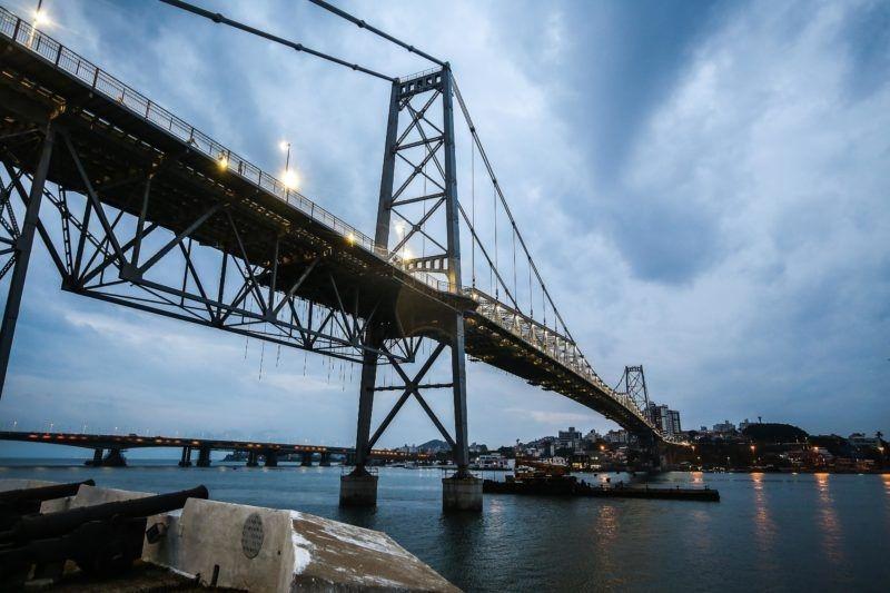 Infraestrutura de SC vai lançar edital de manutenção da Ponte Hercílio Luz – Foto: Anderson Coelho/Arquivo/ND