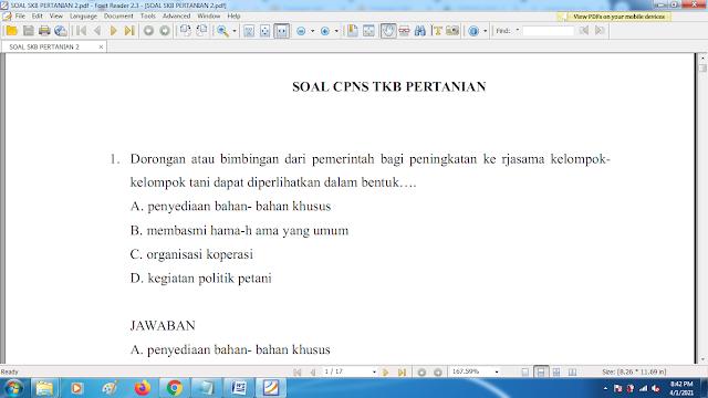 Download contoh soal pppk skb pertanian 2 dan kunci jawaban