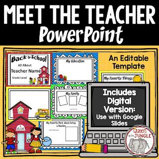 Meet the Teacher Template Back to School