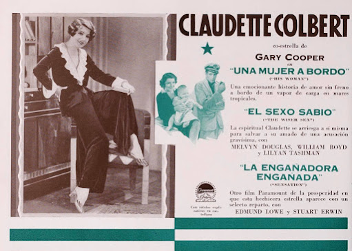 Spanish promotion for The Wiser Sex, 1932.