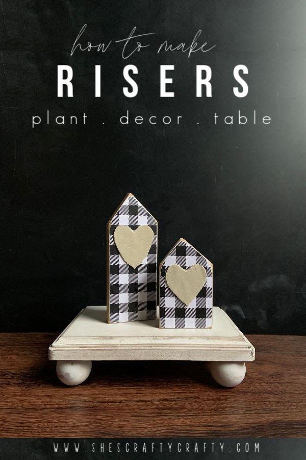 How to make Risers |  make these simple risers from wood for plants, home decor or your table  |  She's Crafty