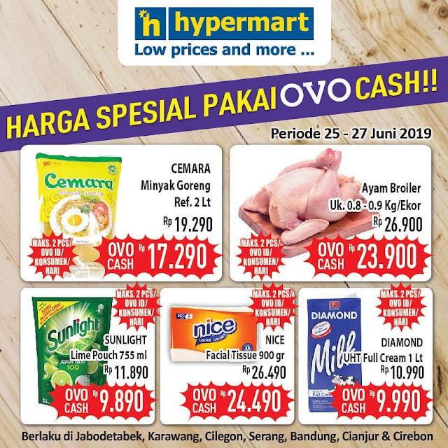 #Hypermart - #Promo Harga Special Bayar Pakai OVO Cash (s.d 27 Juni 2019)