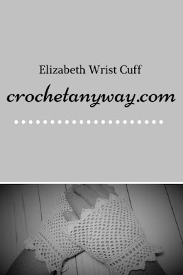 pinterest ready picture of crochet wrist cuffs for costume or cosplay
