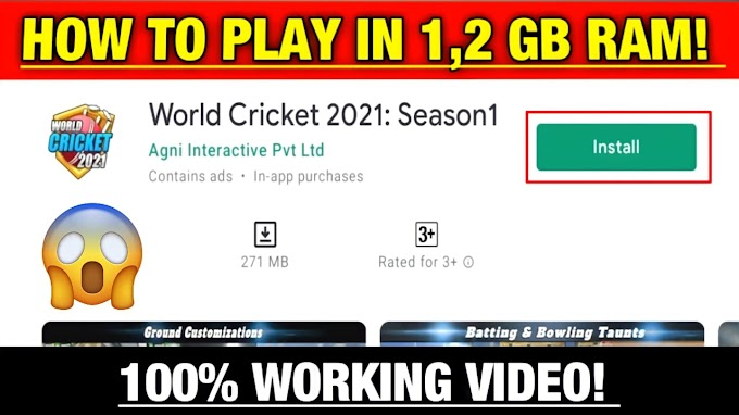How To Play World Cricket 2021: Season 1 In 1,2 GB Ram