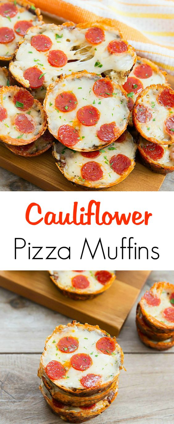 CAULIFLOWER PIZZA MUFFINS