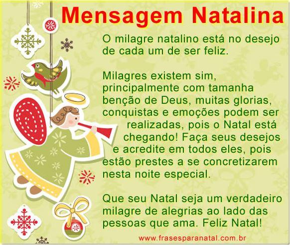 Mensagem de Natal Mensagem Natalina