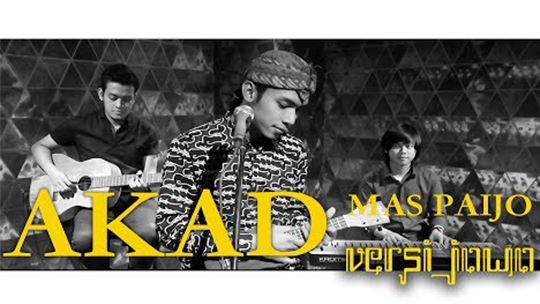 Lirik Lagu Akad Versi Jawa - Alif Rizky (Paijo) ft Fazayubdina & Azman