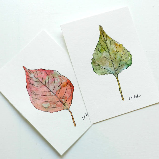 Instructions on How to Paint a Leaf