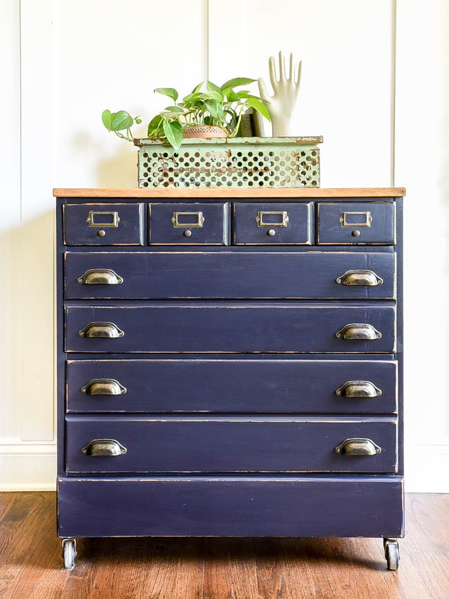 Dated dresser turned industrial inspired chest