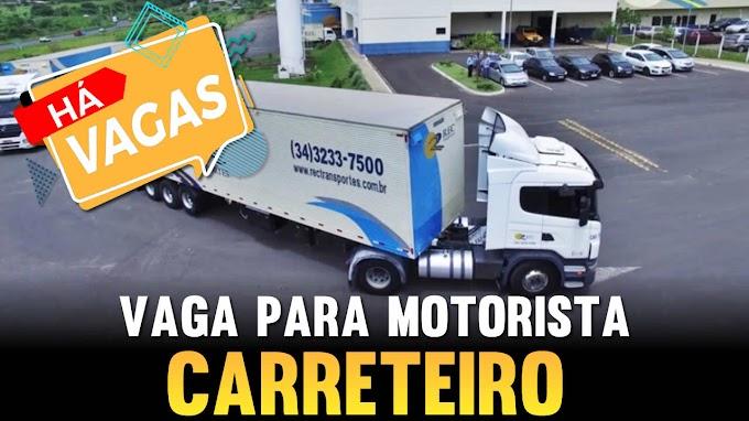 Transportadora Rec abre vagas para motorista carreteiro