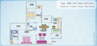 955-sq.ft.-2bhk-floor-plan-Nirala-Estate