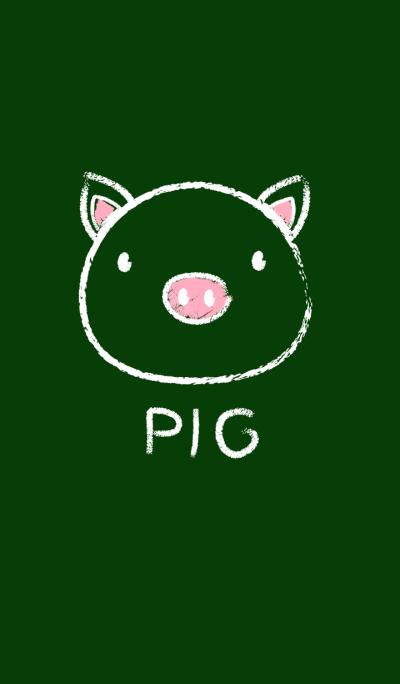 Simple Pig on a Blackboard theme