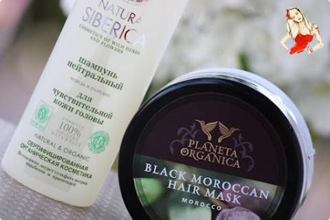 Czarna maska marokańska Planeta Organica i neutralny szampon Natura Siberica - czytaj dalej »