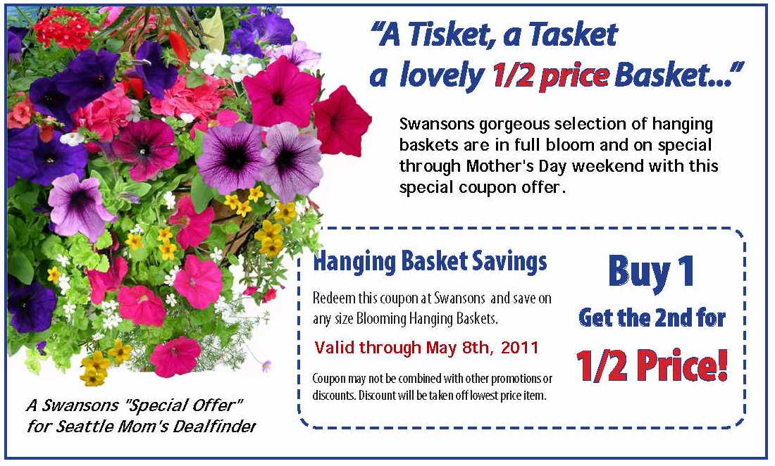 Seattle Moms Deal Finder Swansons Nursery Coupon