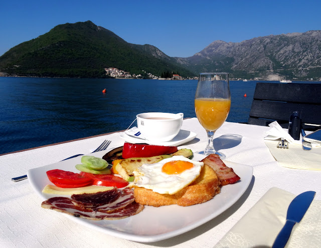 Breakfast Conte Hotel Restaurant Perast, Montenegro