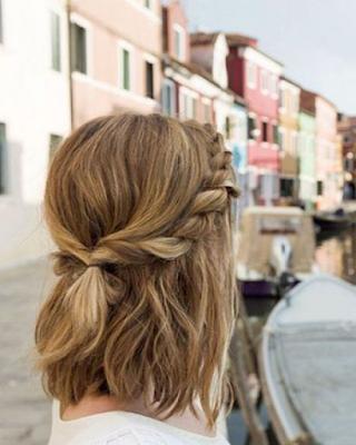 Ideas de peinados para CABELLO CORTO con TRENZAS