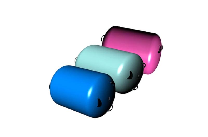 Air tumble mat roll