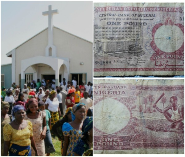 Man Gives His Nigerian Old £1 As Offering Amid Church Service