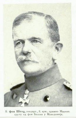 von Scholtz Art-General Commandant of the 8th Army took over the Mackensen-Group from von Below in Macedonia.