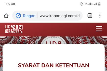 Buruan Daftar!!! Formulir pendaftaran LIDA 2021 LIGA DANGDUT INDONESIA