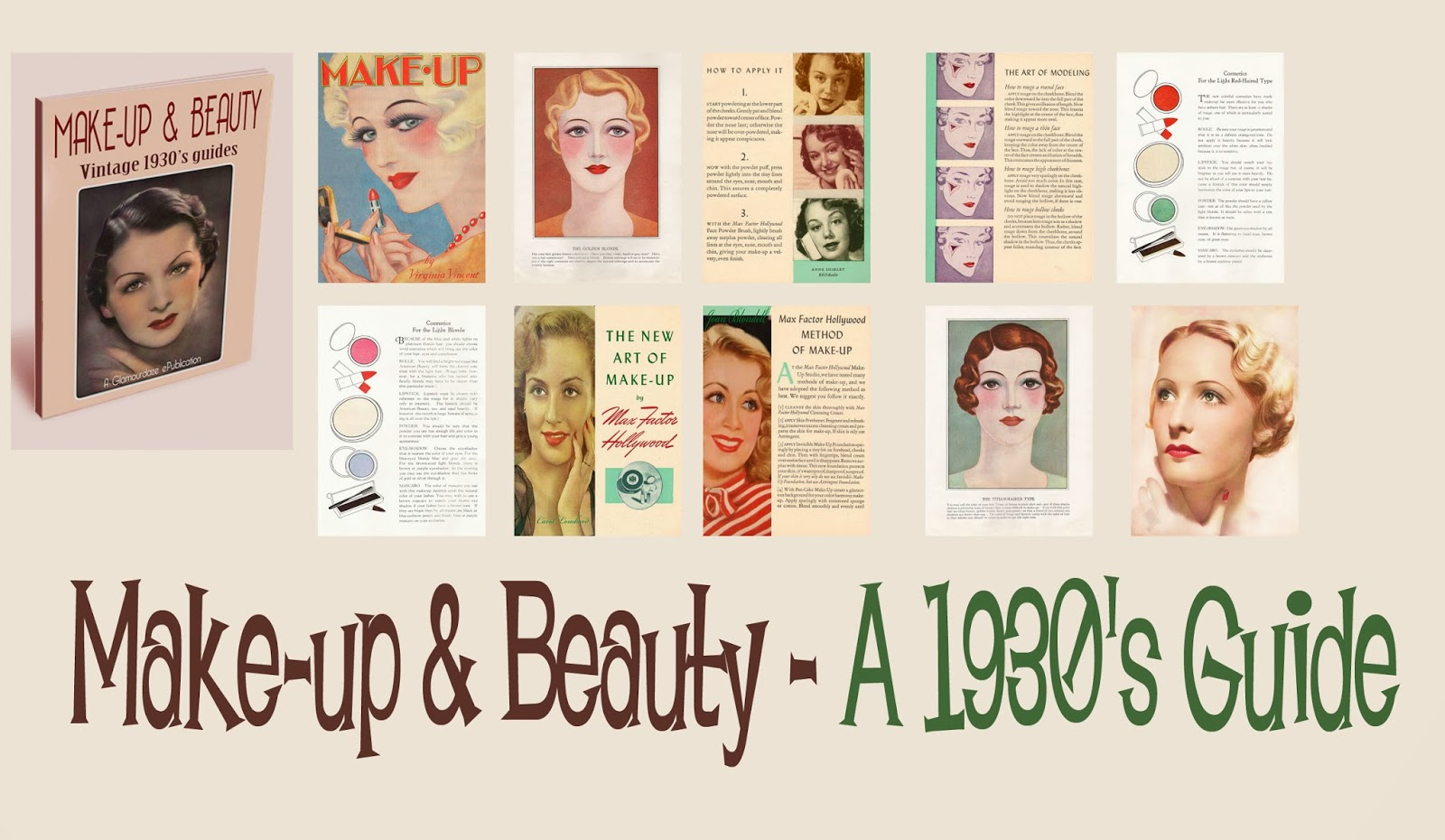 1930s makeup guides fingerwaves vintage hair and makeup how-to