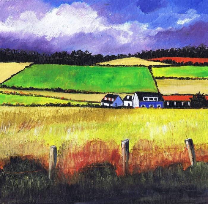 Яркие цвета. Шотландский художник. Alice Stuart
