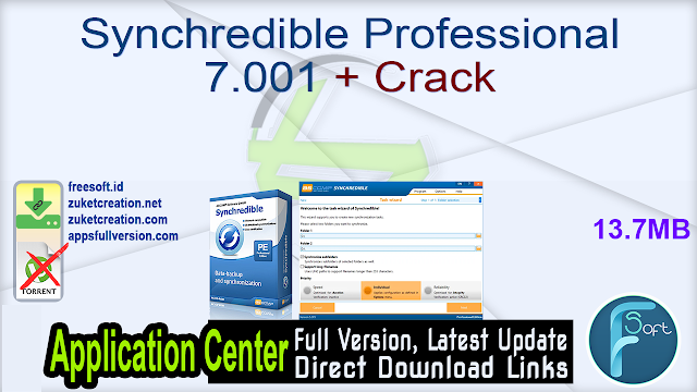 Synchredible Professional 7.001 + Crack
