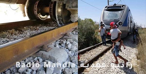 بين المهدية والبقالطة : خروج قطار مترو الساحل عن السكة