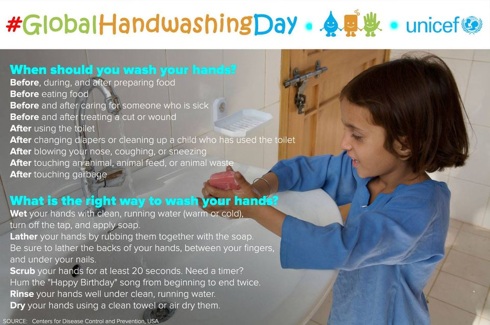 Global Handwashing Day Wishes Sweet Images