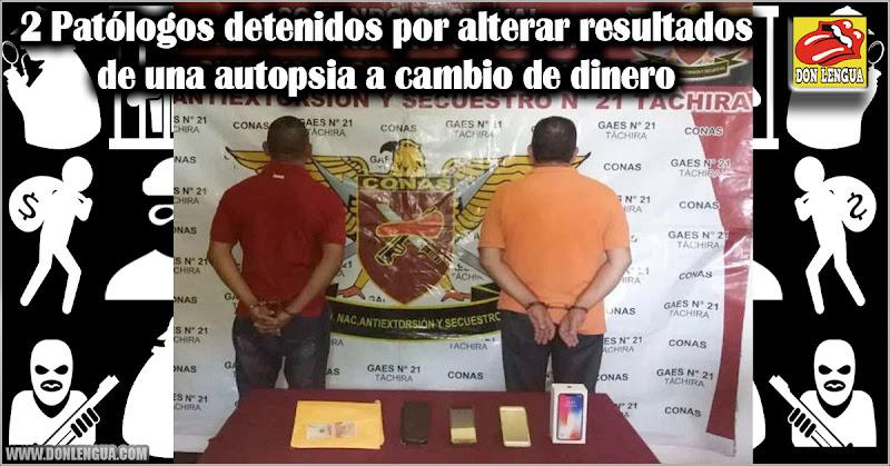 2 Patólogos detenidos por alterar resultados de una autopsia a cambio de dinero