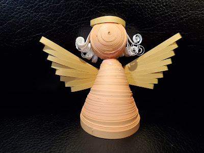 3D Paper Quilling Angel