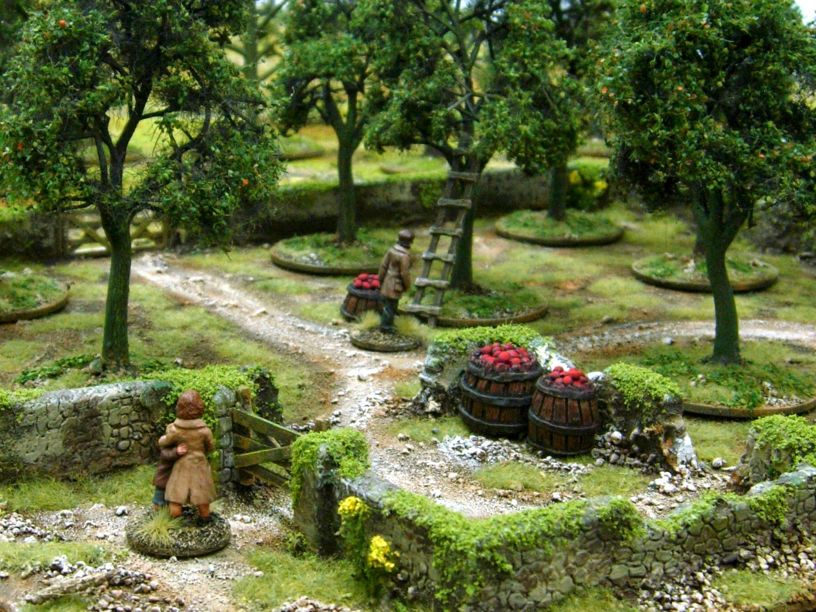 Wargaming with Silver Whistle: TREES, ORCHARDS & BUILDINGS