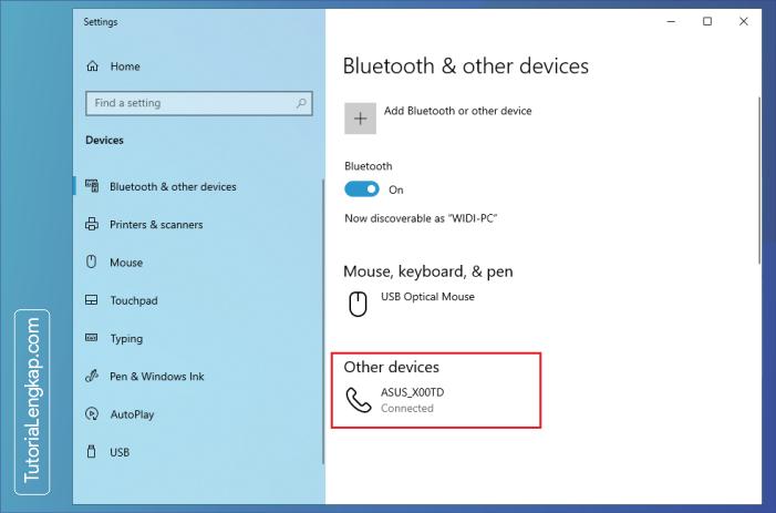 tutorialengkap 7 Cara Menghubungkan Smartphone Sebagai Perangkat Bluetooth Pada Windows 10