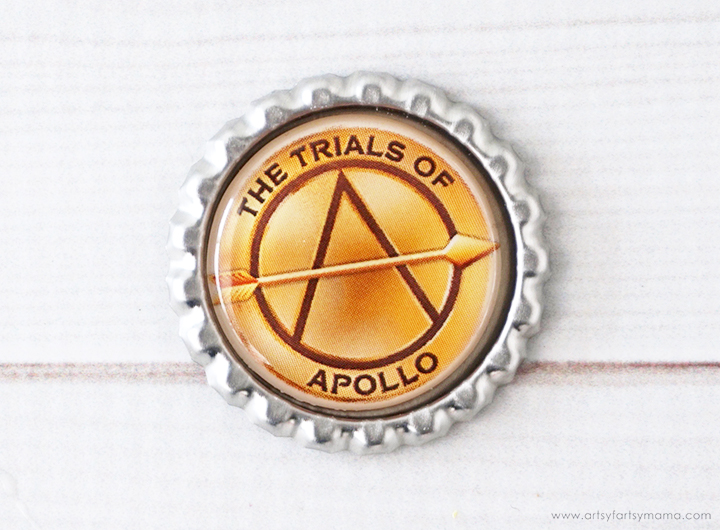 The Trials of Apollo Bottlecap Elastic Bookmark