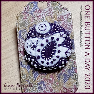 One Button a Day 2020 by Gina Barrett - Day 165 : Foolish Design