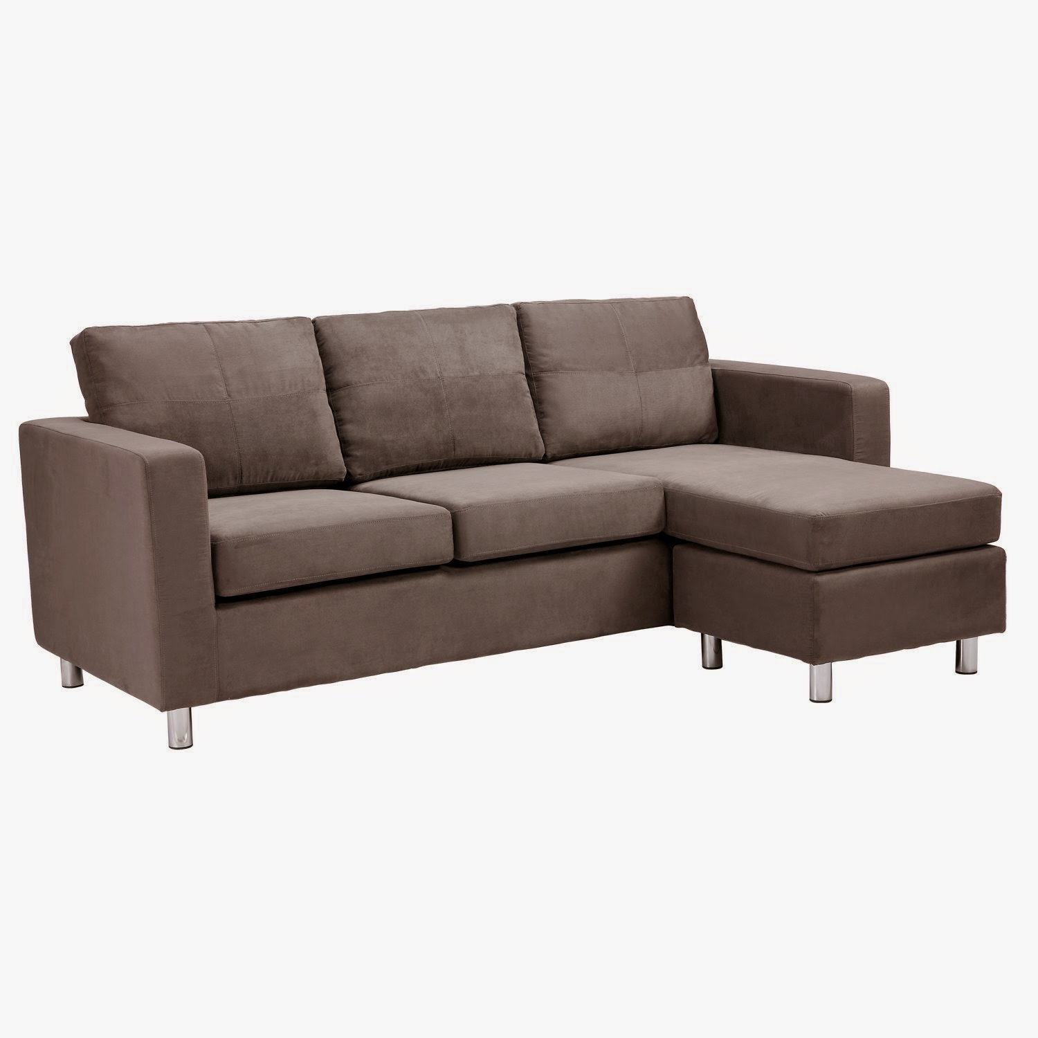 Dorel Asia Microfiber Sectional Sofa, Grey