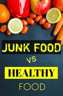 Junk food vs healthy food chart in hindi