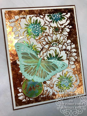 Sara Emily for The Funkie Junkie Boutique https://frillyandfunkie.blogspot.com/2020/01/saturday-showcase-tim-holtz-bouquet.html Tim Holtz Bouquet Curio Box Candy Box  and Card Tutorial 32