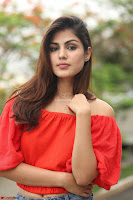 Rhea Chakraborty in Red Crop Top and Denim Shorts Spicy Pics ~  Exclusive 301.JPG