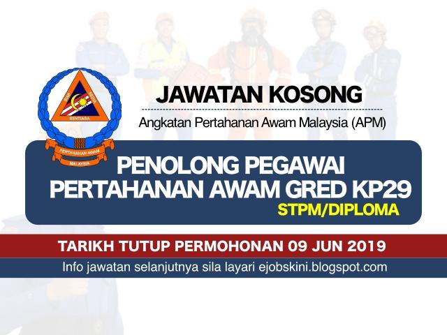 Jawatan Kosong Angkatan Pertahanan Awam Malaysia Apm Tarikh Tutup 09 Jun 2019