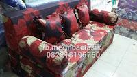 Sofa bed Inoac motif bunga merah inoactasik