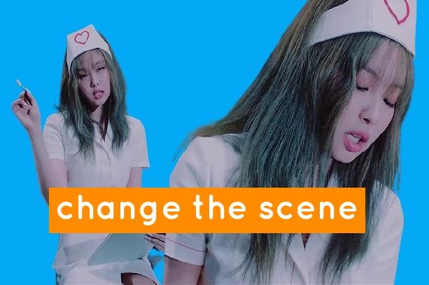 Jennie scene in the mv lovesick girls wearing a nurse's outfit .