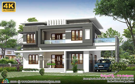 4 bedroom modern house in 4K rendering