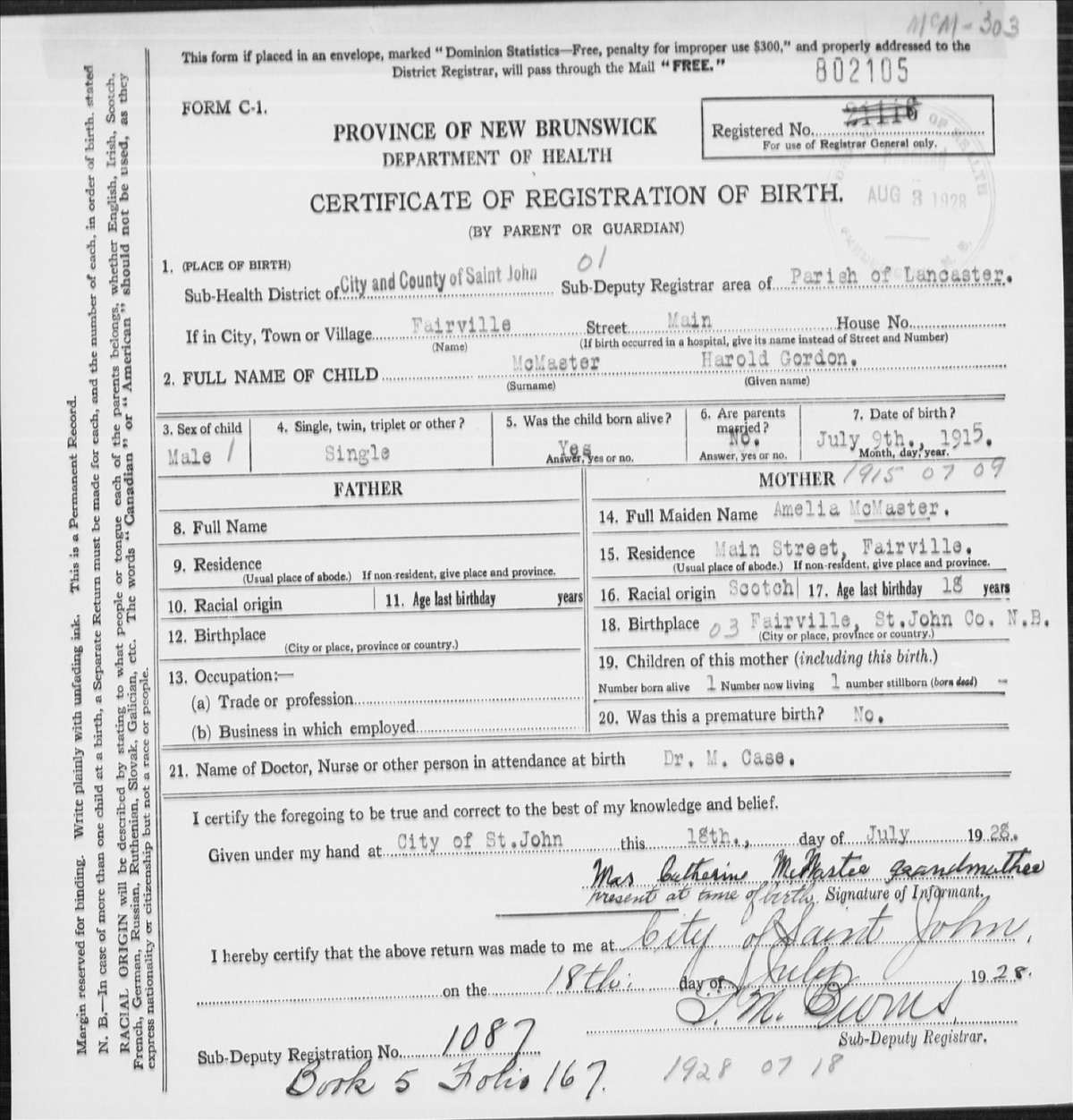 Vancouver spooks the man who preferred prison convict buried at courtesy new brunswick archives birth certificate 1betcityfo Image collections