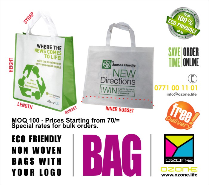 Ozone Branding | High quality soft non woven bags for events and business.