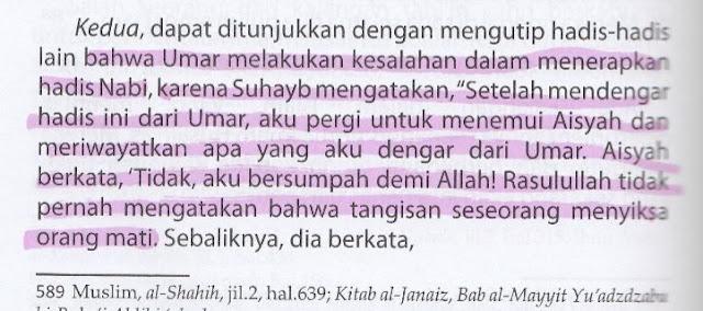 Demi Menghalalkan Meratapi Para Imam, Syiah Menyalahkan Hadits Riwayat Umar RA